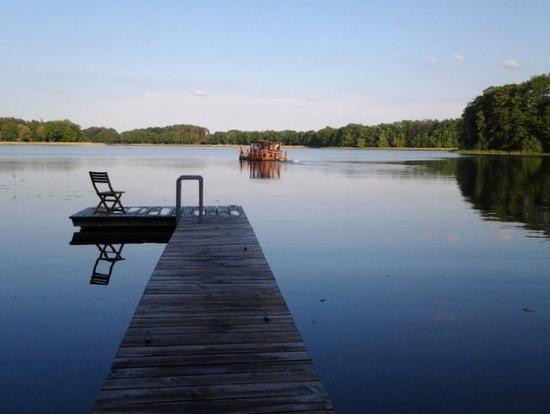 Ausblick vom Steg auf den Canower See